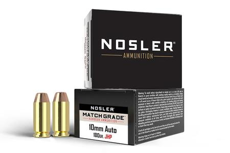 Nosler 10mm 180 gr JHP Match Grade 20/Box