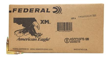 Federal 5.56mm NATO 62 gr FMJ Green Tip XM855 1000/Box