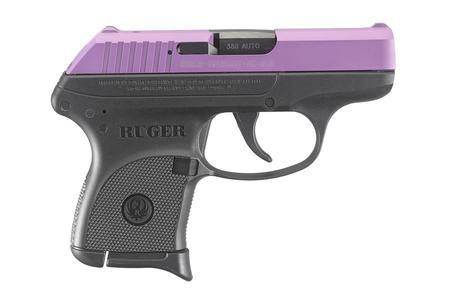RUGER LCP 380 ACP WITH PURPLE CERAKOTE SLIDE