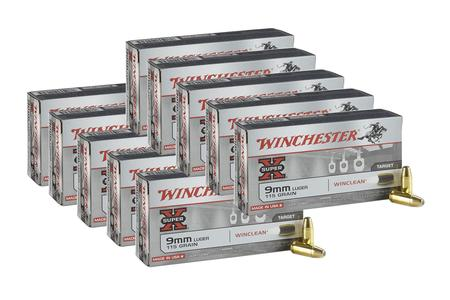 WINCHESTER AMMO 9mm Luger 115 gr Winclean Super-X 500 Round Case