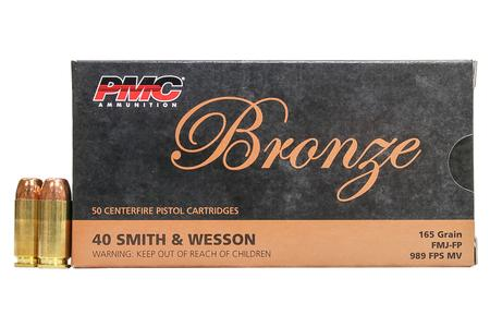 PMC 40SW 165 gr FMJ-FP Bronze 50/Box