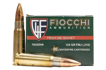 Fiocchi 7.62x39mm 124 gr FMJ Soviet Training Dynamics 20/Box