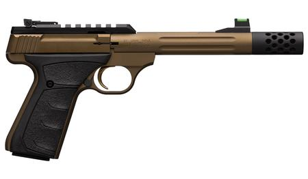 BROWNING FIREARMS BUCK MARK PLUS SPEED 22LR RIMFIRE PISTOL WITH BRONZE CERAKOTE FINISH