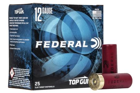 Federal 12 Gauge 2-3/4 inch 1-1/8 oz 9 Shot Top Gun Target 25/Box