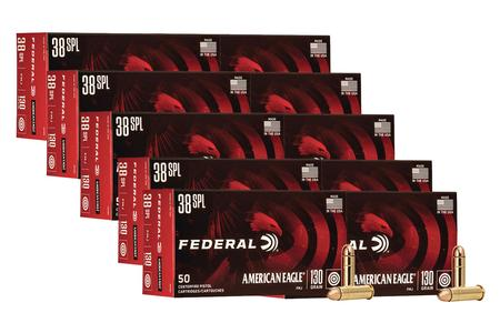 Federal 38 Special 130 gr Full Metal Jacket American Eagle 500 Rounds
