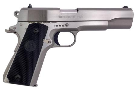 COLT 1911 GOVERNMENT 45 ACP FULL-SIZE PISTOL WITH BRUSHED STAINLESS FINISH
