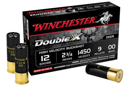 WINCHESTER AMMO 12 GA 2 3/4 Inch 9 PLT 00 Buck Double X 5/Box