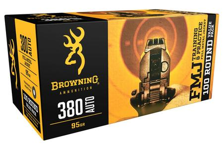 Browning 380 Auto 95 gr FMJ Training and Practice 100 Round Value Pack