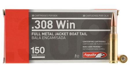 Aguila 308 Win 150 gr FMJ-Boat Tail 20/Box