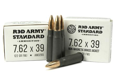 Red Army Standard 7.62x39mm 122 gr FMJ Boat-Tail Steel Case 20/Box