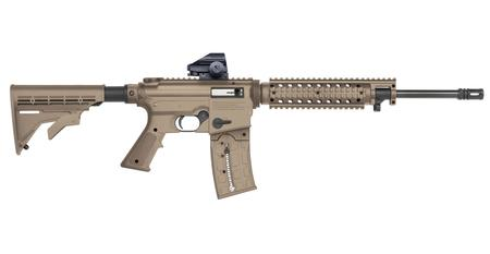 MOSSBERG 715T 22 LR 16.25 IN BBL FDE FINISH HOLOGRAPHIC GREEN DOT