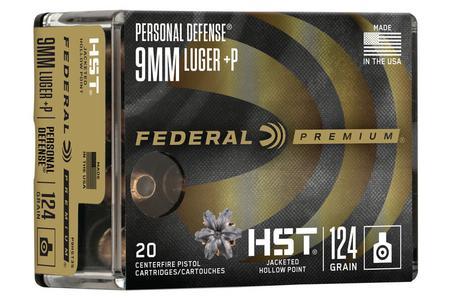 Federal 9mm+P 124 gr JHP HST Personal Defense 20/Box