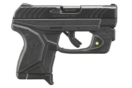 RUGER LCP II 380 ACP WITH VIRIDIAN E-SERIES GREEN LASER