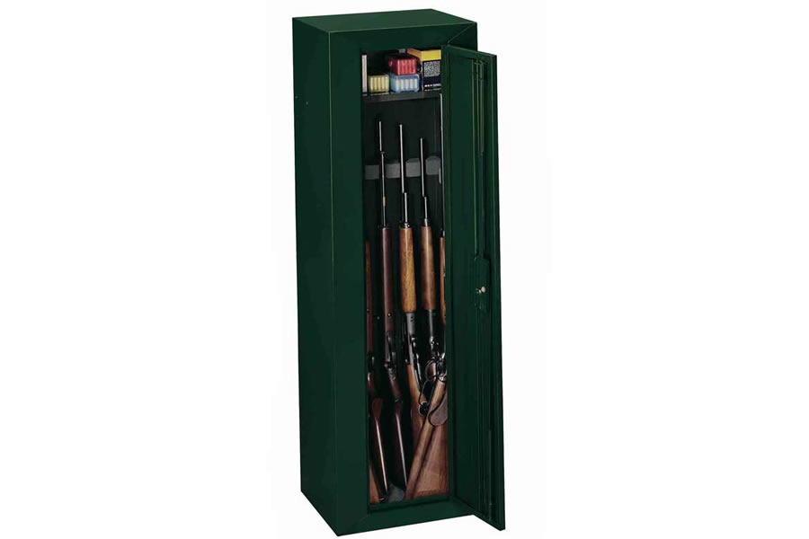 Stack on 10 gun compact steel sec cabinet green vance for Best spray gun for kitchen cabinets