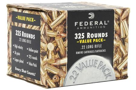 Federal 22 LR 36 gr CPHP 325 Round Value Pack