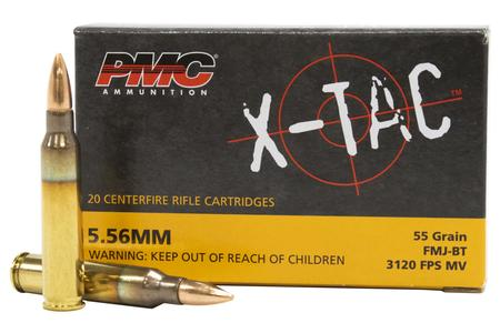 PMC 5.56mm 55 gr FMJ-BT X-TAC 20/Box