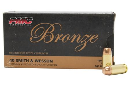 PMC 40SW 180 gr FMJ-FP Bronze 50/Box