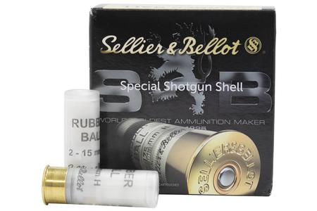 SELLIER AND BELLOT 12 Gauge 2-3/4 in Rubber Ball 15mm 25/Box