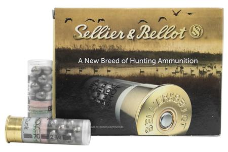 SELLIER AND BELLOT 12 Gauge 2-3/4 in 12 Pellets 00 Buckshot 10/Box