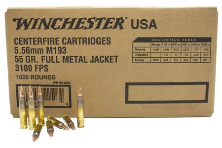 WINCHESTER AMMO 5.56mm 55 gr FMJ M193 1000/Box