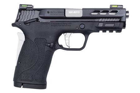SMITH AND WESSON MP380 SHIELD 380 ACP EZ PERFORMANCE SILVER PORTED BARREL WITH HI-VIZ LITEWAVE H3