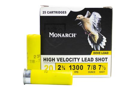 MONARCH AMMUNITION 20 Gauge 2-3/4 In 7/8 oz 7.5 Shot Dove Load 25/Box