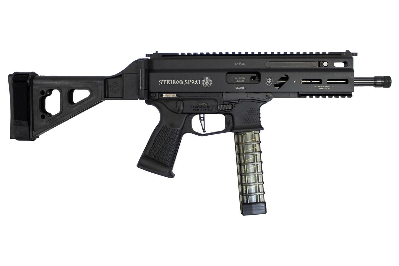 Grand Power Stribog SP9A1 Gen2 9mm, 8 Barrel, Folding SB