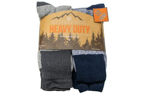 HEAVY WEIGHT BOOT SOCK 10 PACK