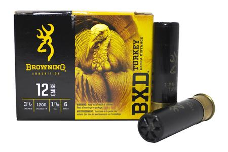 BROWNING AMMUNITION 12 Gauge 3-1/2 In 1-7/8 oz 6 Shot BXD Turkey Extra Distance 10/Box