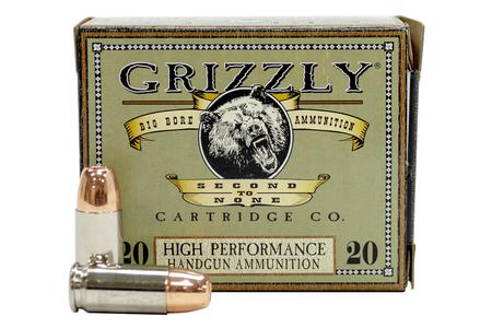 Grizzly Ammo 9mm +P 124 gr Jacketed Hollow Point 20/Box