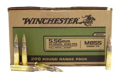 Winchester 5.56mm 62 gr FMJLC M855 Green Tip Winchester 200/Box