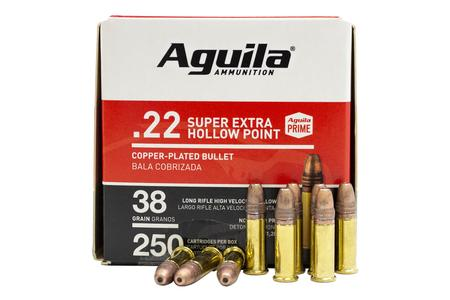 Aguila 22LR 38 gr Copper Plated Hollow Point 250/Box