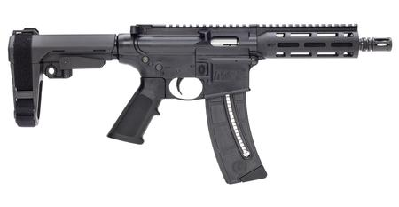 SMITH AND WESSON MP 15-22 AR PISTOL 8` BBL 22LR SBA BRACE