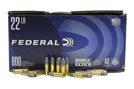 FEDERAL AMMUNITION 22LR 40 gr LRN Range Pack 800/Brick