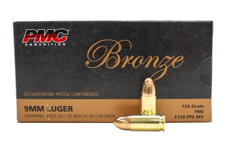 PMC 9mm 124 gr FMJ Bronze 50/Box