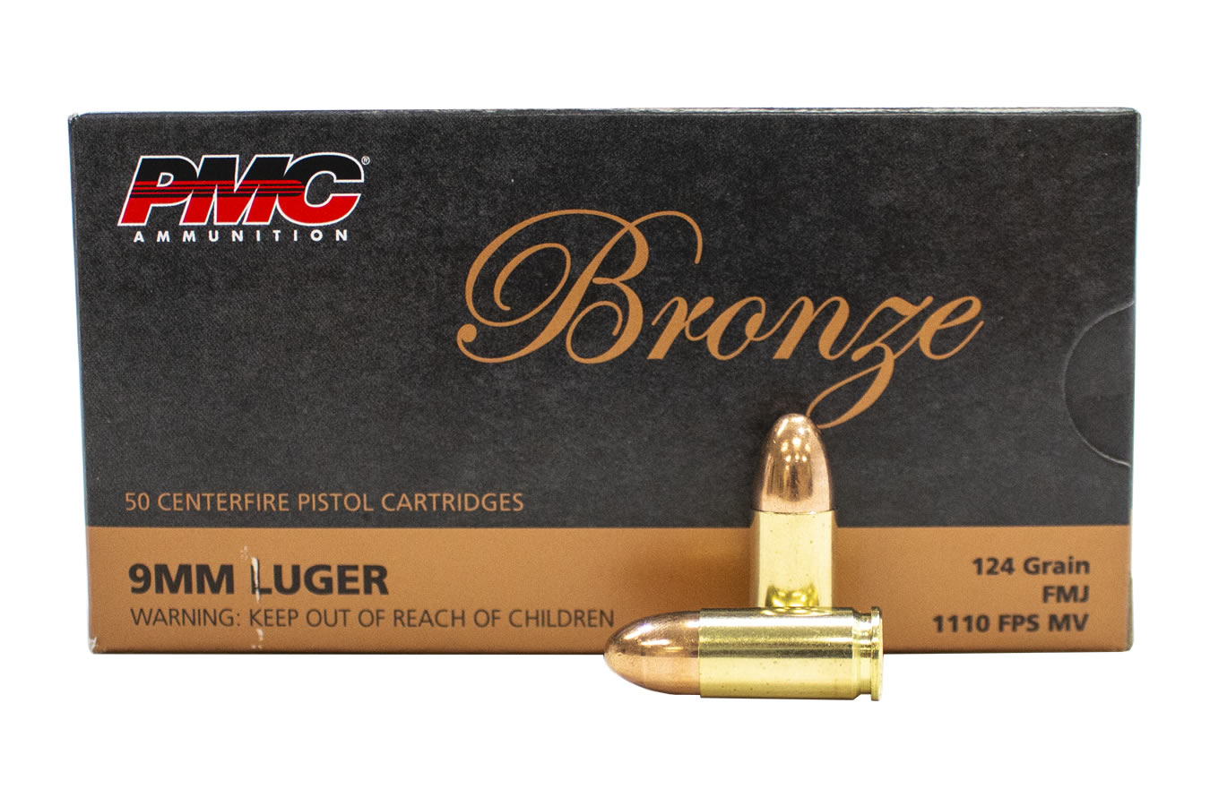 9MM 124 GR FMJ BRONZE 50/BOX