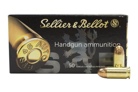 Sellier And Bellot 45 ACP 230 gr FMJ Police Trade Ammunition 50/Box