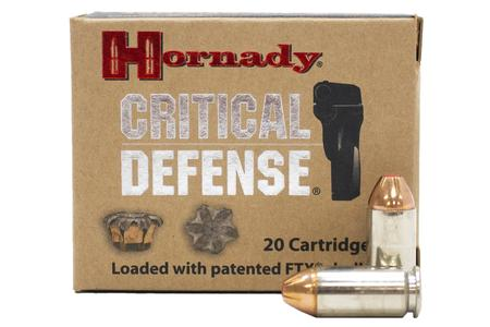 Hornady 40 SW 165 gr FTX Critical Defense Police Trade Ammo 20/Box
