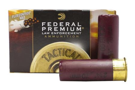 FEDERAL AMMUNITION 12 Gauge 2-3/4 in 9 Pellet 00 Buckshot Police Trade Ammo 5/Box