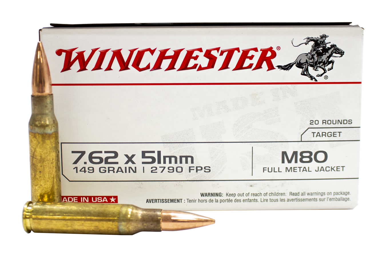 7.62X51MM NATO 149 GR FULL METAL JACKET LEAD CORE
