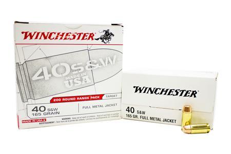 Winchester 40SW 165 gr FMJ USA Range Pack 200/Box
