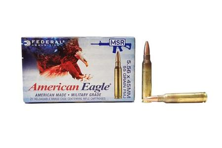 FEDERAL AMMUNITION 5.56mm 55 gr FMJ 20/Box