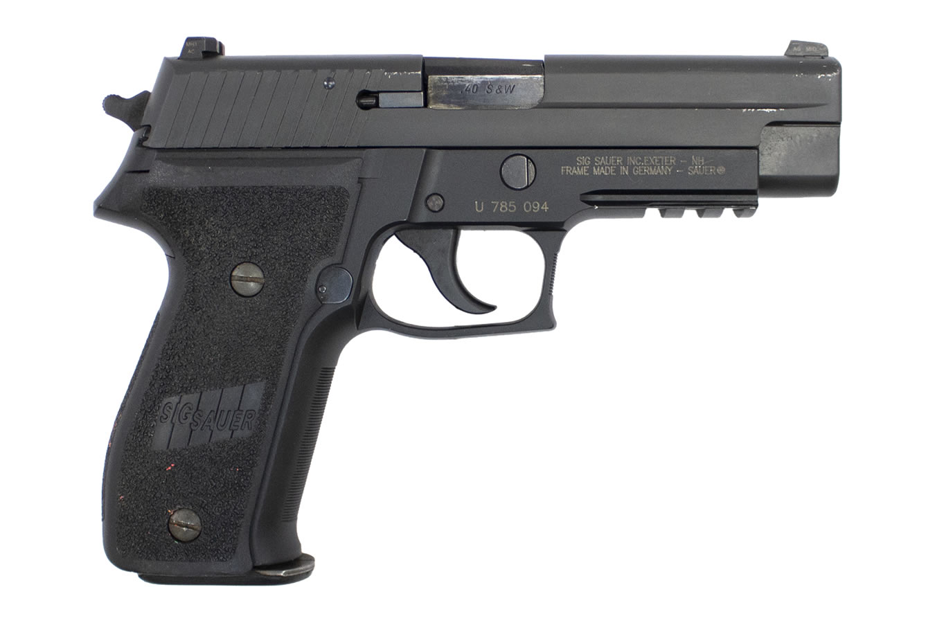 P226R 40SW USED FULL PISTOL WITH NIGHT SIGHTS AND 12 RD MAG