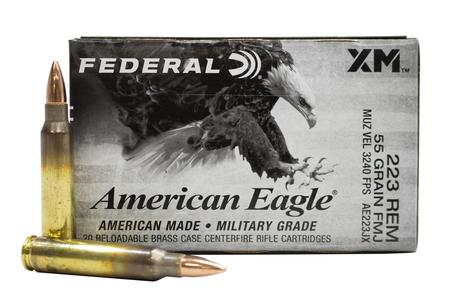 Federal 223 Rem 55 gr FMJ BT American Eagle 20/Box