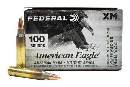 Federal 223 Rem 55 gr FMJ BT American Eagle 100/Box