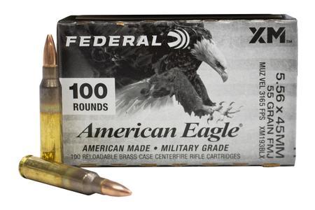 Federal 5.56mm 55 gr FMJ BT American Eagle 100/Box