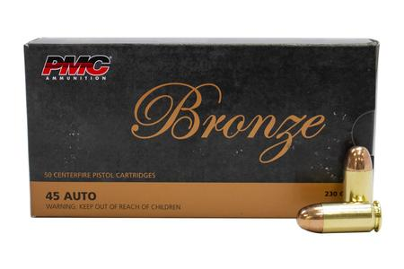 PMC 45 AUTO 230 GR FMJ Bronze 50/Box