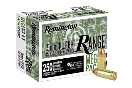 Remington 9mm 115 gr FMJ Range Ammo 250 Round Value Pack