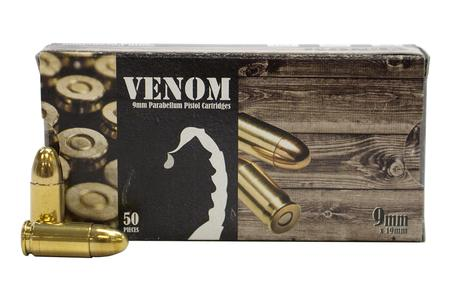 Geco 9mm 115 gr FMJ Venom 50/Box