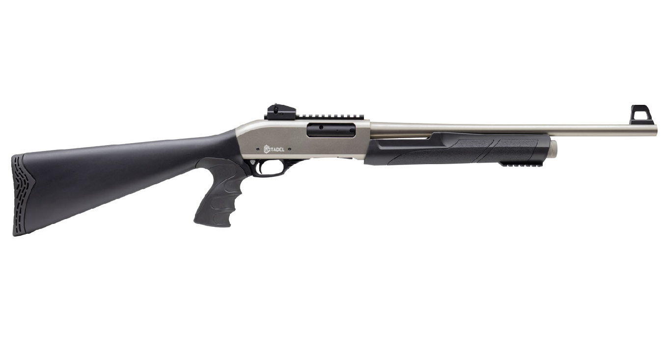 PAT PUMP ACTION SHOTGUN 12GA 20` NICKEL FINISH